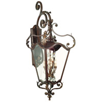Corbett Lighting St. Tropez 9 Light Outdoor Wall Bracket in Antique Bronze 75-24
