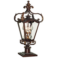 Corbett Lighting St. Tropez 3 Light Outdoor Post Lantern in Antique Bronze 75-82