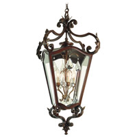 Corbett Lighting St. Tropez 4 Light Outdoor Hanging Lantern in Antique Bronze 75-93