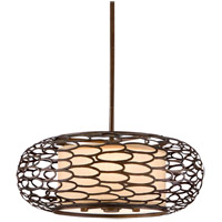 Cesto 3 Light 18 inch Napoli Bronze Semi-Flush Ceiling Light