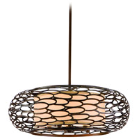 Cesto 5 Light 24 inch Napoli Bronze Pendant Ceiling Light