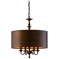 Corbett Lighting Bryant Park 4 Light Chandelier in Regent Bronze with Gold Leaf 80-04