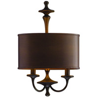 Corbett Lighting Bryant Park 2 Light Wall Sconce in Regent Bronze with Gold Leaf 80-12