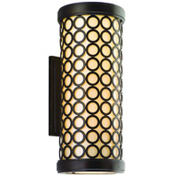 Corbett Lighting Bangle 2 Light Outdoor Wall Lantern in Modern Bronze 83-22