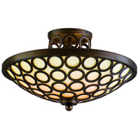 Corbett Lighting Bangle 3 Light Semi-Flush in Modern Bronze 83-33