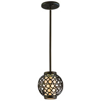 Corbett Lighting Bangle 1 Light Ball Pendant in Modern Bronze 83-41
