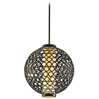 Corbett Lighting Bangle 3 Light Ball Pendant in Modern Bronze 83-43 photo thumbnail