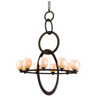 Corbett Lighting Cirque 10 Light Chandelier in Brown Suede 84-010