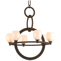 Cirque 6 Light 29 inch Brown Suede Chandelier Ceiling Light