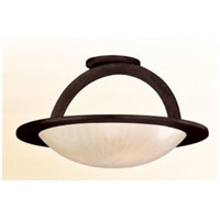Corbett Lighting Cirque 3 Light Semi-Flush in Brown Suede 84-33