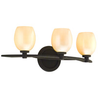Corbett Lighting Cirque 3 Light Bath in Brown Suede 84-63