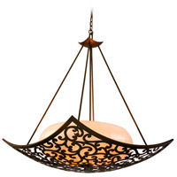 Corbett Lighting Philippe 4 Light Inverted Pendant in Tahitian Bronze 85-74