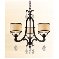 Roma 3 Light 23 inch Classic Bronze Chandelier Ceiling Light