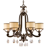Corbett Lighting Roma 6 Light Chandelier in Classic Bronze 86-06