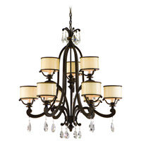 Corbett Lighting Roma 9 Light Chandelier in Classic Bronze 86-09