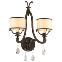Corbett Lighting Roma 2 Light Wall Sconce in Classic Bronze 86-12