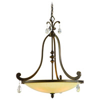 Corbett Lighting Roma 4 Light Inverted Pendant in Classic Bronze 86-74