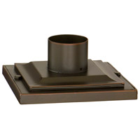 Corbett Lighting Pier Mount Base Post Accessory in Montrachet Bronze PBM-68-MBZ