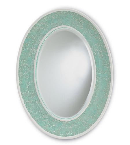 Currey & Company Eos Mirror in Aqua 1009 photo