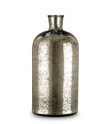 Currey & Company Cypriot Bottle in Antique Silver 1024 photo