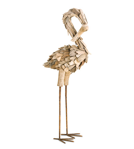 Currey & Company Driftwood Flamingo in Natural 1059 photo