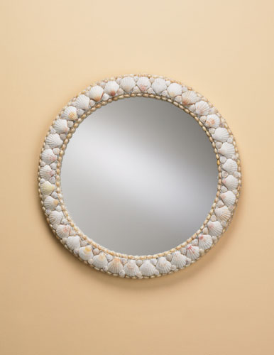 Currey & Company Harbor Mirror in Natural Shell 1320 photo