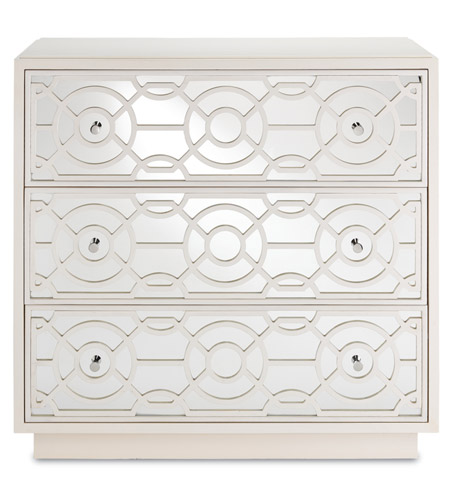 Currey & Company 3000-0039 Alisa Marshmallow Drawer Chest, 3 Drawers photo