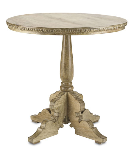 Currey & Company Southall Table in Natural/White 3013 photo