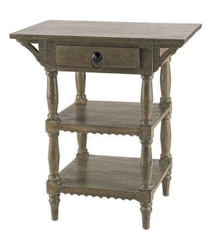 Currey & Company Cranbourne Side Table in Swedish Gray 3014 photo