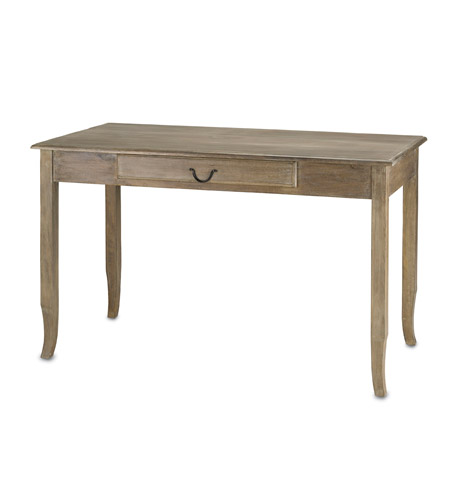 Currey & Company Cranbourne Writing Desk in Swedish Gray 3019 photo