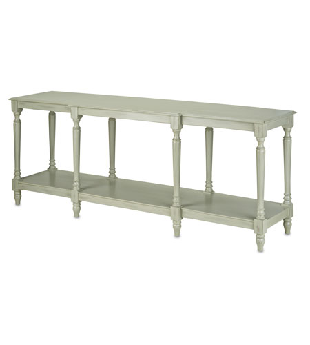 Currey & Company Beatrix Console Table in Antique Lichen 3031 photo