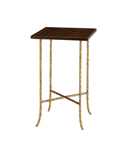 Currey & Company Gilt Twist Table in Gilt Bronze 4054 photo