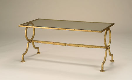Currey & Company Gilbert Table in Gold Leaf 4056 photo