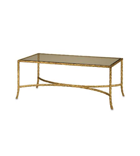 Currey & Company Gilt Twist Table in Gilt Bronze 4057 photo