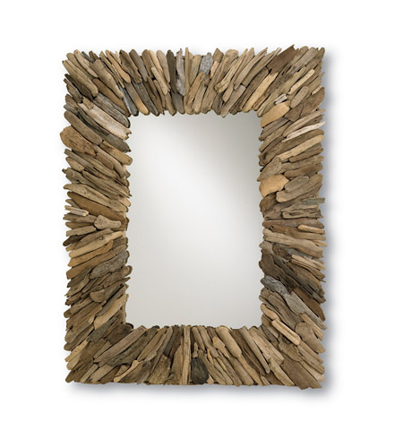 Currey & Company Beachhead Mirror in Natural Wood/Mirror 4344 photo