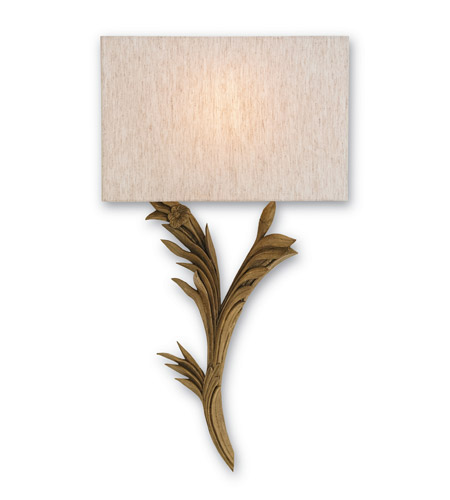 Currey & Company 5096 Bel Esprit 1 Light 15 inch Antiquity Gold Wall Sconce Wall Light photo
