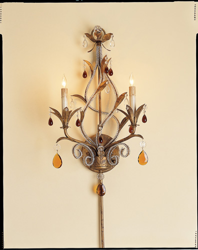 Currey & Company Isabella 2 Light Wall Sconce in Rhine Gold 5556 photo