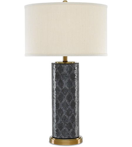Antique Brass and Black Table Lamps
