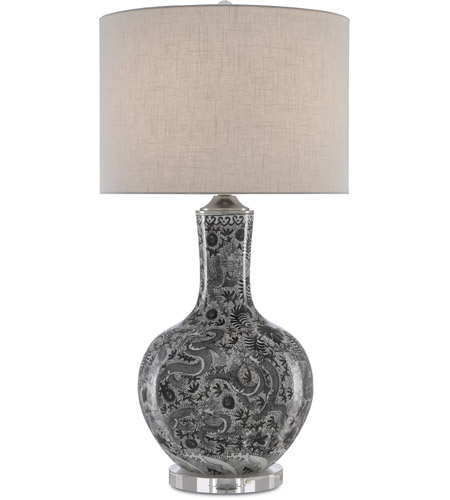 Polished Nickel W White Table Lamps