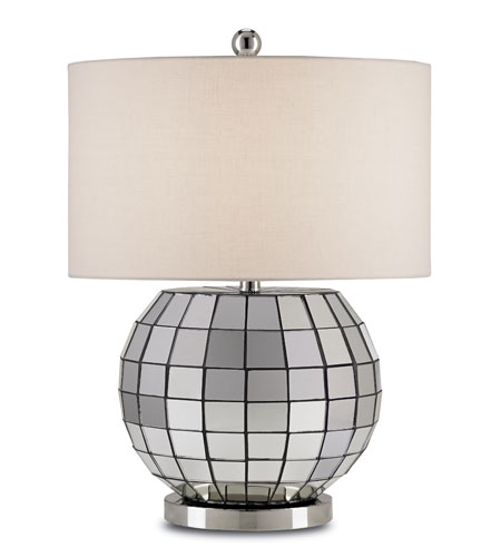 Currey & Company Mason 1 Light Table Lamp in Polished Nickel 6042 photo