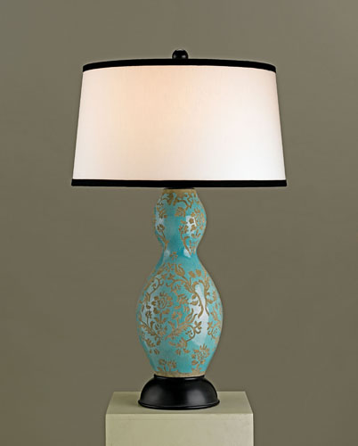 Currey & Company Angelica 1 Light Table Lamp in Azure 6057 photo