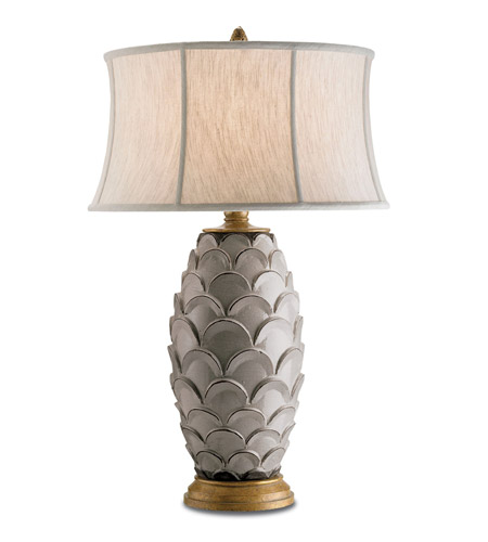 Currey & Company Demitasse 1 Light Table Lamp in Antique White/ Gold 6261 photo