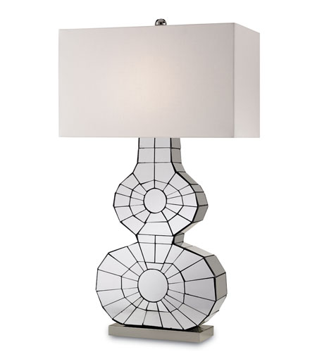 Currey & Company Ronda 1 Light Table Lamp in Polished Nickel 6273 photo