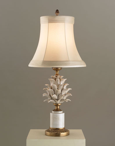 Currey & Company Carciofi 1 Light Table Lamp in Antique White Crackle Porcelain 6336 photo