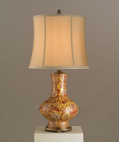 Currey Company Siam Table Lamp Lillian August Collection In Antique Yellow Red And White Le Porcelain Br 6392
