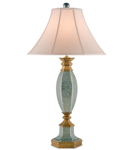 Callicarpa 33 inch 100 watt blue crackle with gold and for 100 watt table lamps