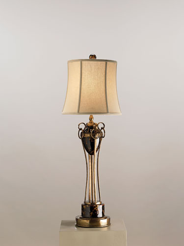 Currey & Company Ruskin 1 Light Table Lamp in Black Tortoise 6468 photo