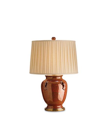 Currey & Company Beasley 1 Light Table Lamp in Brick Tortoise/Brass 6492 photo