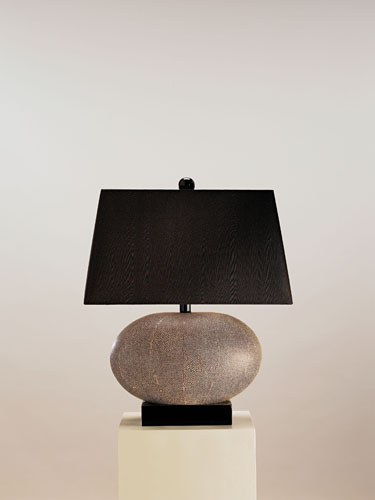 Currey & Company Luxor 1 Light Table Lamp in Brown Shagreen 6528 photo