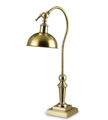 Currey & Company Peabody 1 Light Desk Lamp in Antique Brass 6531 photo